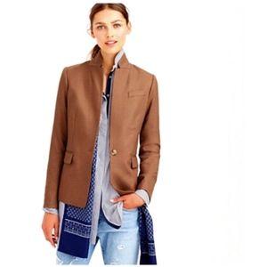J CREW Regents Wool Blend Blazer in Warm Camel
